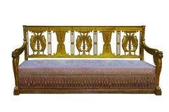 Vintage luxuoso Sofa On White Background imagens de stock royalty free