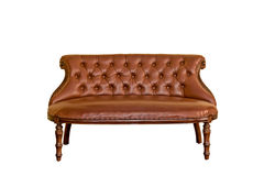 Vintage luxurious sofa furniture. Isolated white background Royalty Free Stock Photography