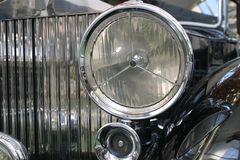 Vintage luxury. Detail of an old luxury limousine stock photo