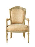 Vintage luxury armchair. (with clipping path) isolated on white background Royalty Free Stock Images