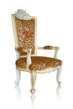 Vintage luxury armchair, clipping path Royalty Free Stock Photos