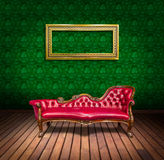 Vintage luxury armchair and frame Stock Photo