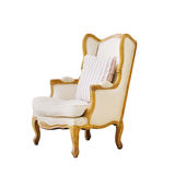 Vintage luxury armchair isolated on white Stock Images