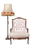 Vintage luxury armchair and lamp Stock Photo