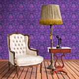 Vintage luxury armchair Royalty Free Stock Photos