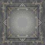 Vintage luxury background with abstract floral pattern. Stock Photo