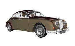 Vintage luxury car - 3D render Stock Photos