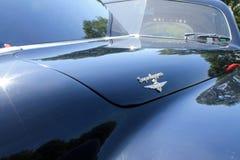 Vintage luxury car hood detail Royalty Free Stock Photos