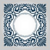 Vintage luxury emblem. Decorative floral pattern. royalty free illustration