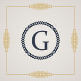Vintage luxury emblem. Elegant Calligraphic vector Royalty Free Stock Image