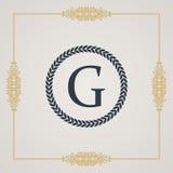 Vintage luxury emblem. Elegant Calligraphic vector Royalty Free Stock Image