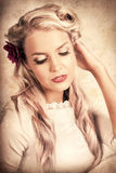 Vintage Luxury Photo Of An Elegant Beauty Queen Royalty Free Stock Photography