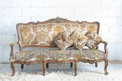 Vintage luxury sofa Royalty Free Stock Image