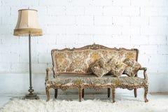 Vintage luxury sofa royalty free stock photography