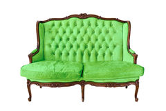 Vintage luxury sofa isolated Royalty Free Stock Photography