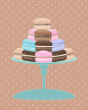 Vintage macaroon Stock Photography