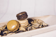 Vintage macaroons Royalty Free Stock Photography