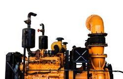 Vintage machine engine isolated background Stock Photography