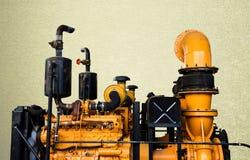 Vintage machine engine ivntage blachground Stock Images