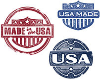 Vintage Made in USA Stamps Stock Photo