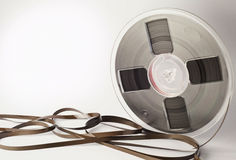Vintage magnetic audio reel and tangled tape Royalty Free Stock Photography