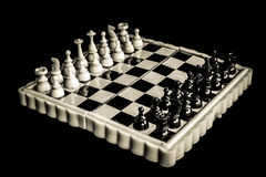 Vintage magnetic chessboard Royalty Free Stock Photo