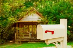 Vintage mail box on country. Home stock images