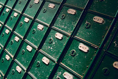 Vintage mail boxes Royalty Free Stock Images