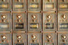 Vintage Mail Pigeonholes Stock Photos