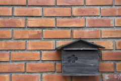 Vintage mailbox on brick wall Stock Images