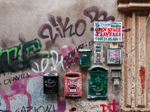 Vintage mailbox on the wall in Catania, Italy Stock Images