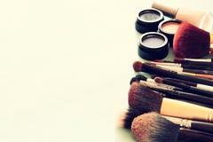 Vintage Make Up set. filtered image. Stock Photography
