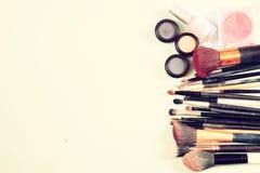 Vintage Make Up set. filtered image. Stock Image