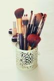 Vintage Make Up set. filtered image. Royalty Free Stock Image