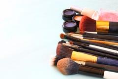 Vintage Make Up set. filtered image. Royalty Free Stock Photography