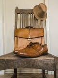 Vintage male cloth fashion. Royalty Free Stock Photo