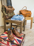 Vintage male clothing and accessories. Royalty Free Stock Images