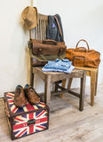Vintage male clothing and accessories. Stock Photography