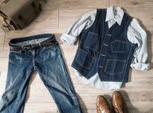 Vintage male clothing Stock Image