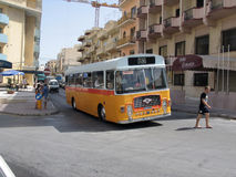 Vintage Malta Bus Royalty Free Stock Image