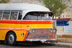 Vintage maltese buses used as a traveling shop.  Stock Image