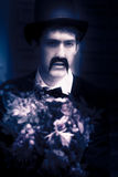 Vintage Man With Flowers Royalty Free Stock Images