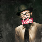 VintAGE Man Growing Elderly In Old Fashioned Style Stock Photography
