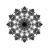 Vintage Mandala Design en el fondo blanco ilustración del vector
