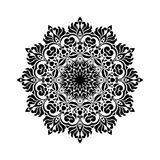 Vintage Mandala Design in White Background Royalty Free Stock Image