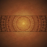 Vintage mandala ornament cover Stock Photo