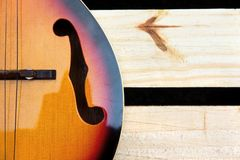 Vintage mandolin background Royalty Free Stock Photography
