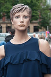 Vintage mannequin at the market Royalty Free Stock Photography