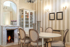 Vintage mansion - dining room Stock Photography