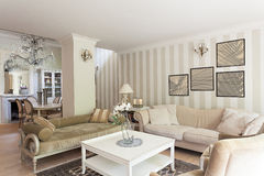 Vintage mansion - drawing room Royalty Free Stock Photos
